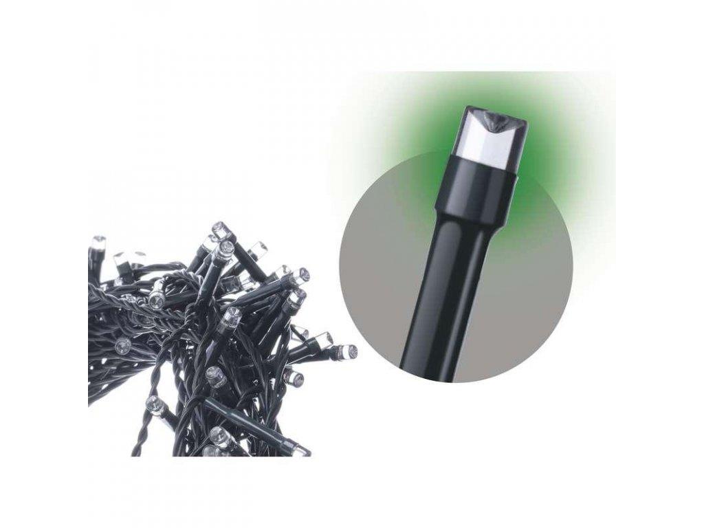 Spojovací řetěz 100 LED, 10m, zelená
