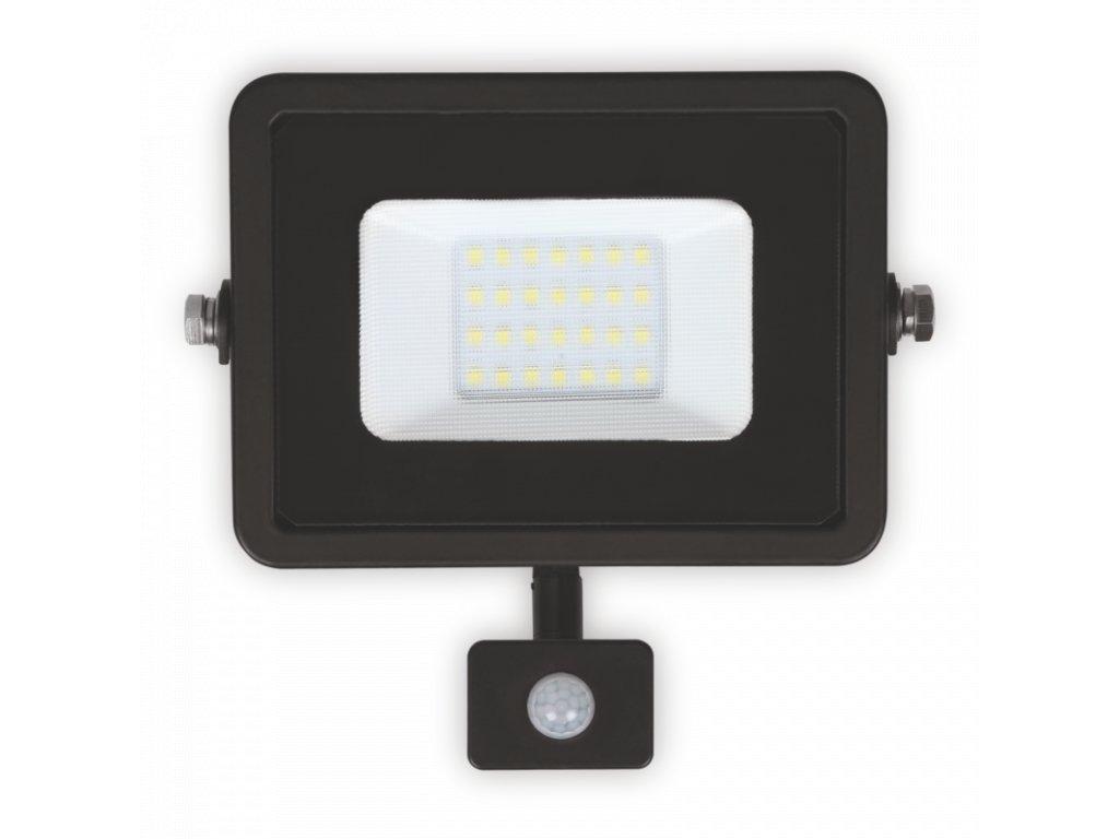 LED reflektor 20W PLATI PIR 1400lm SLIM Teplá