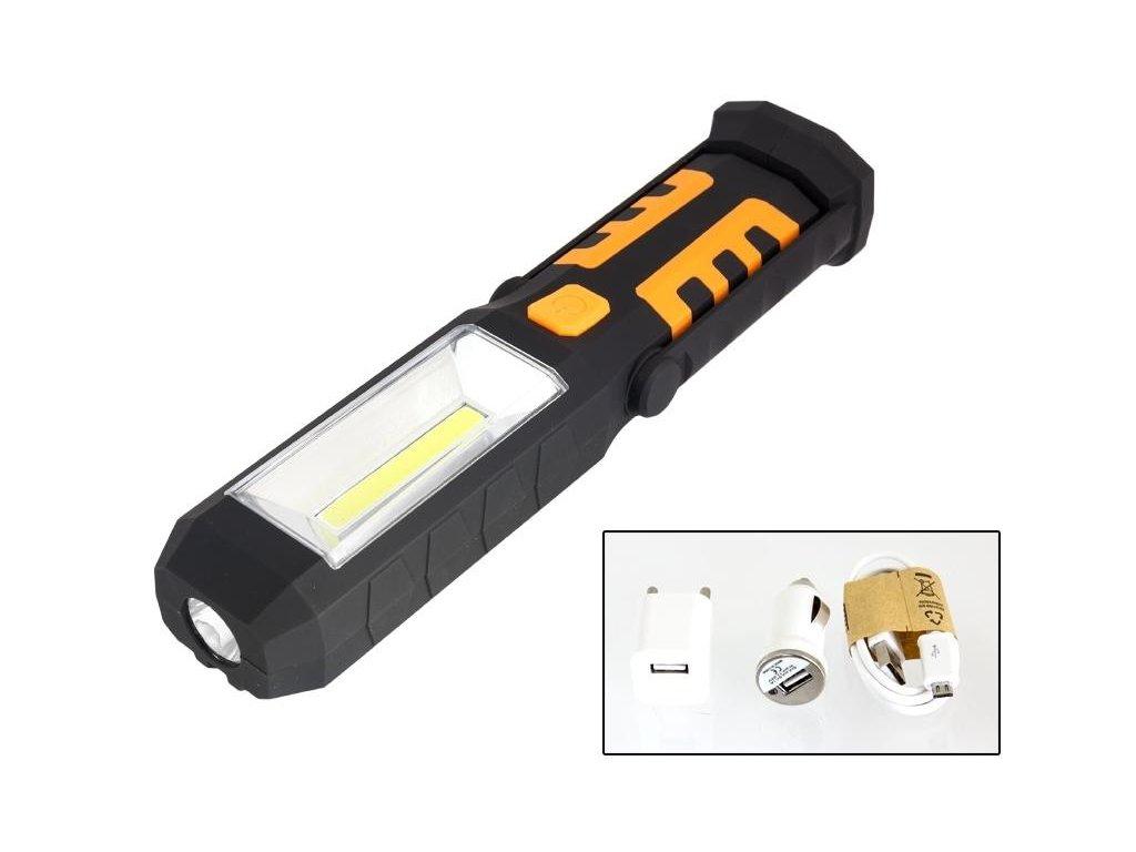 27cddf1e6 ... nabíjecí · AG121C LED svítilna plastová pracovní, 3W COB LED + 1x LED,  nabíjecí