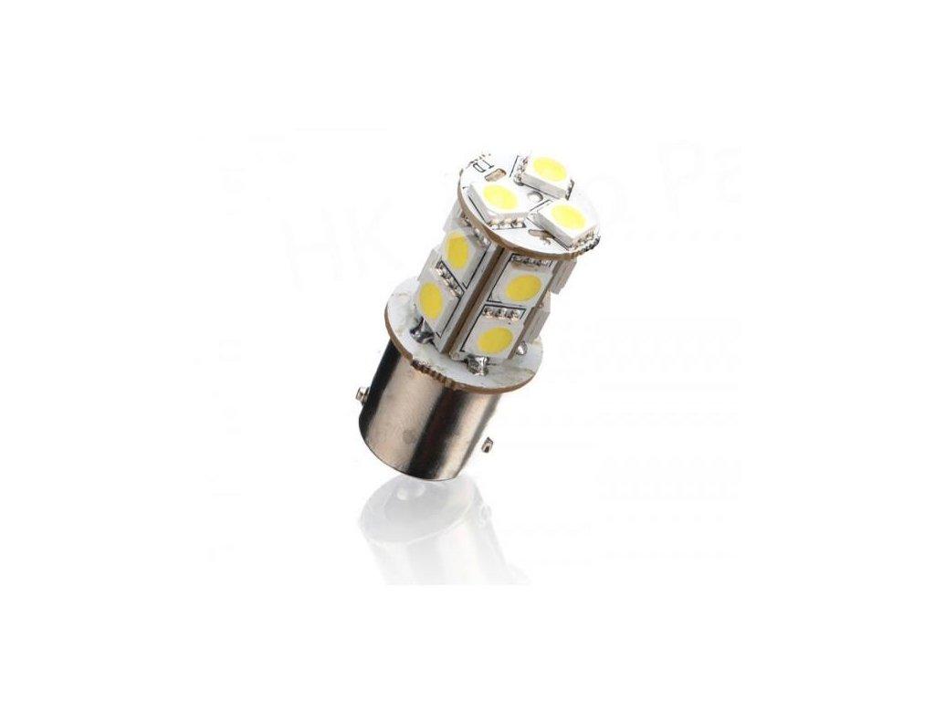 LED autožárovka BA15S 13 SMD 5050 P21W