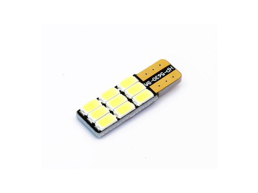 LED autožárovka LED W5W T10 9 SMD 5630 CAN BUS SIDE
