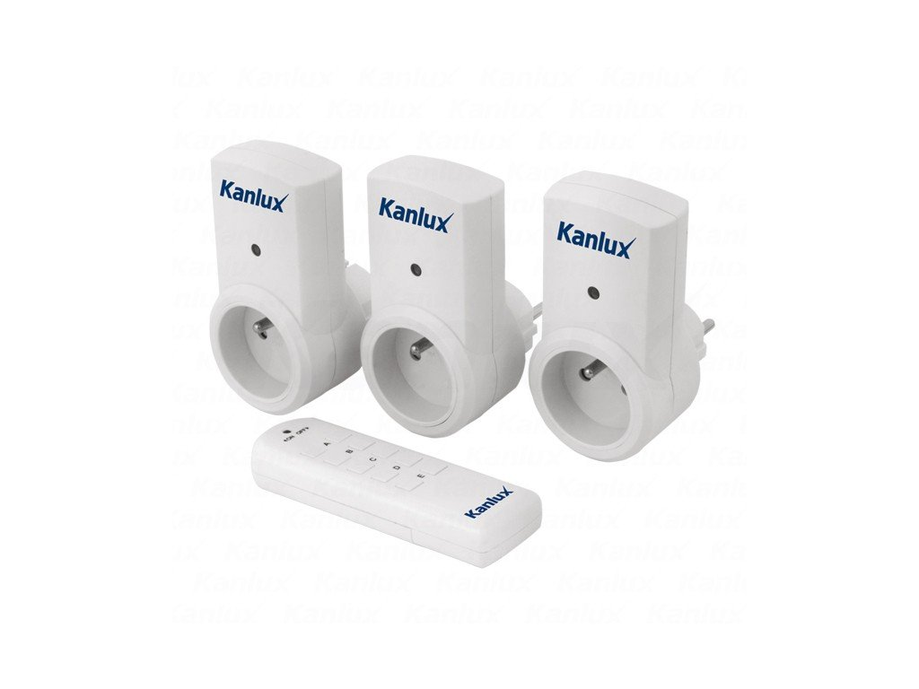 Kanlux 07980 APO TM-3 Zásuvky na dálkové ovládání 3ks