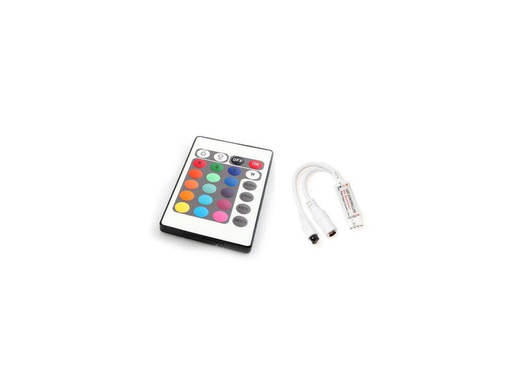 RGB kontroler s ovladačem pro LED pásky 72W 24 tlačítek