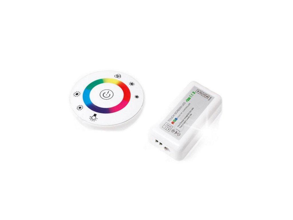Dálkový ovladač RF pro LED RGB dotykový 18A 216W bílý