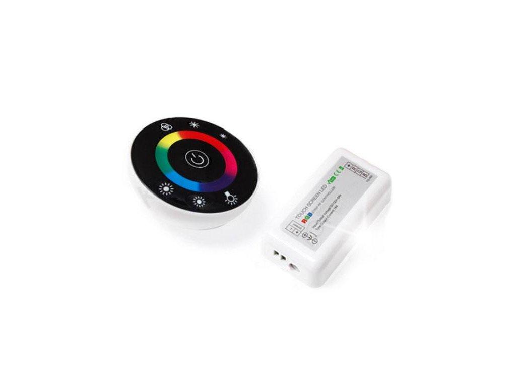 Dálkový ovladač RF pro LED RGB dotykový 18A 216W černý