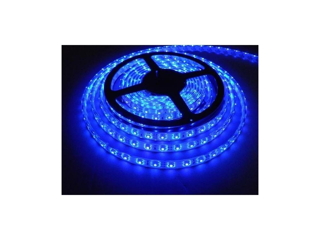 LED pásek 5m 4,8W/m 60ks/m 3528 Modrý