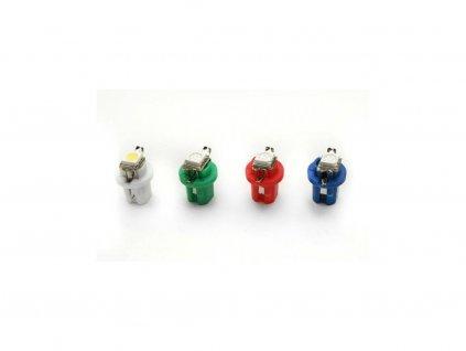 LED autožárovka LED T5 R5 1 SMD 5050 bílá