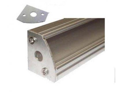 Krytka koncová pro profil MiniLUX 30/60°, stříbrná