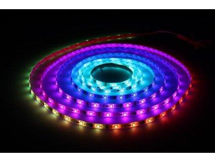 Berge Digital RGB LED pásek 5m, 30LED/m, 7,2W/m, voděodolný