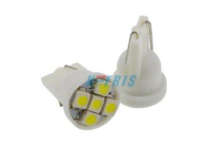 LED autožárovka LED T10 W5W 5 SMD 1210