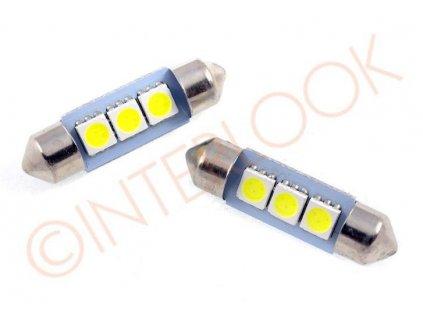 Interlook LED auto žárovka LED C5W 3 SMD 5050 42mm