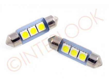 Interlook LED auto žárovka LED C5W 3 SMD 5050 39mm