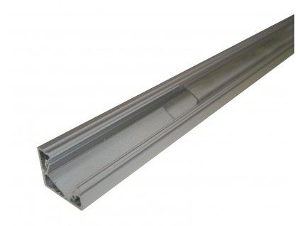 Hliníkový profil MiniLUX  30/60° 1m pro LED pásky, hliník