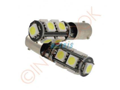 Interlook LED autožárovka LED BA9S 9 SMD 5050 H6W CAN BUS
