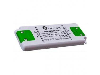 Nábytkový LED napájecí zdroj FTPC12V12 12W 1A 12V