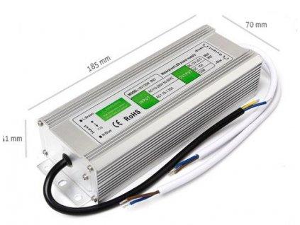Napájecí zdroj 120W 10A 12V DC, voděodolný / venkovní