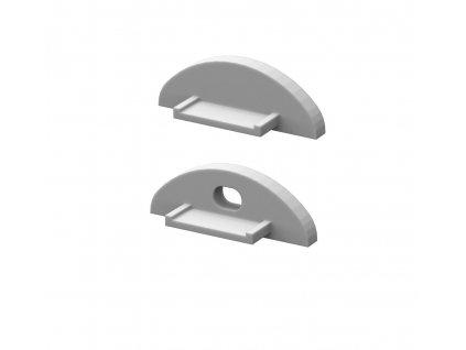 Krytky koncové pro profil BRG-2, šedé,  1pár