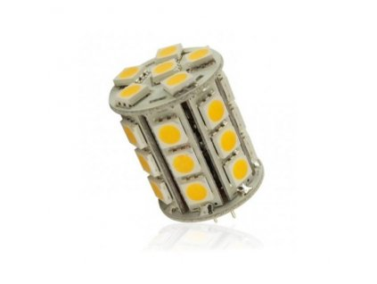 Interlook LED žárovka 5,4W 27xSMD5050 G4 450lm 12V DC Studená
