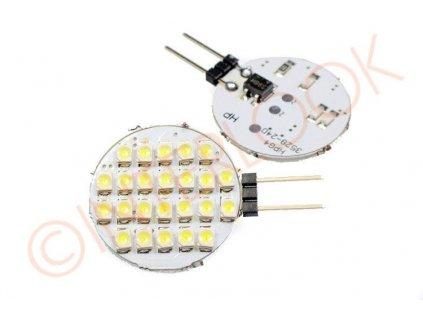 Interlook LED žárovka 2,4W 24xSMD1210 G4 200lm 12V DC Neutrální