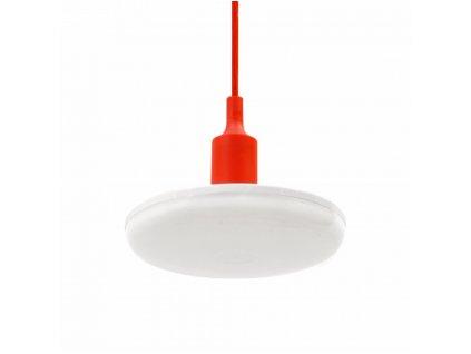 Spectrum LED závěsné svítidlo ALBENE ECO 18W, ČERVENÝ ZÁVĚS, Teplá