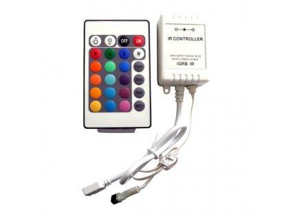 RGB kontroler s ovladačem pro LED pásky 72W 24 tlačítek Premium Line