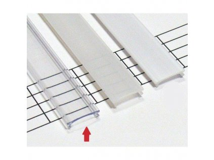 Transparentní difuzor KLIK pro profily LUMINES A/B/C/D/Y/Z 1m