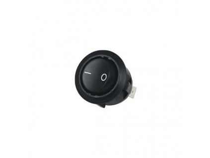 Zápustný vypínač kulatý - černý