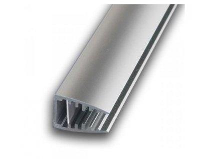 PremiumLED Hliníkový profil LED MIKRO pro skleněné police 6mm 1m pro LED pásky, anodovaný