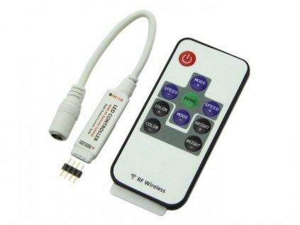 RGB kontroler RF (radio) s ovladačem pro LED pásky 72W 10 tlačítek