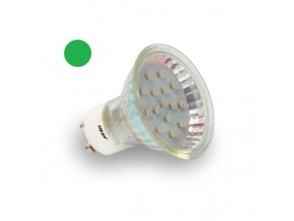PremiumLED LED žárovka 1W 8xSMD2835 GU10 80lm Zelená