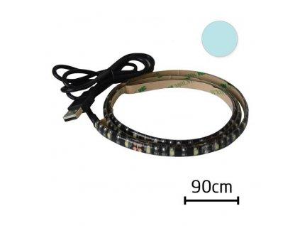 Tipa LED pásek s USB 90cm 60ks/m 3528 4.8W/m,voděodolný, Studená