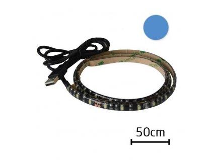Tipa LED pásek s USB 90cm 60ks/m 3528 4.8W/m,voděodolný, Modrá