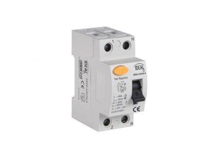 Kanlux 23180 proudový chránič KRD6-2/25/30 (30mA) dvoupólový