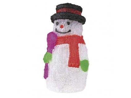 LED dekorace - Sněhulák, Studená bílá