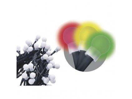 200 LED řetěz - kuličky, 10m, IP20, multicolor
