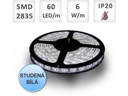 LED pásek 5m 60ks 2835 6W/m, STUDENÁ