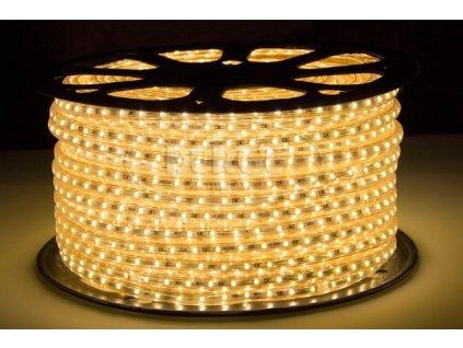 LED pásek 230V 1m 120ks 2835 11W/m silikon Teplá