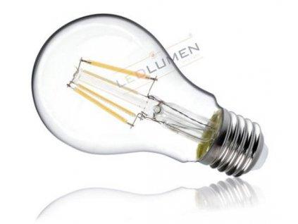 Ledlumen LED žárovka 6W 4xCOB Filament E27 720lm CCD Teplá