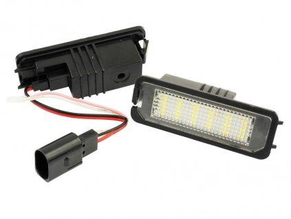 LED podsvícení SPZ pro LED VW Golf 4 5 6, Passat B6 B7 CC, Polo, Seat Leon, Ibiza, Porsche Cayenne