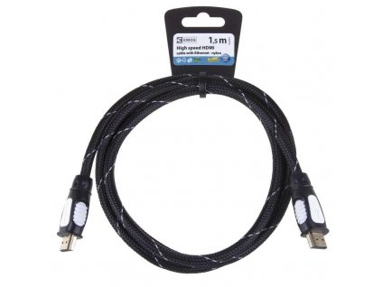 HDMI 1.4 high speed kabel eth.A vidlice-A vidlice 1,5m nylon