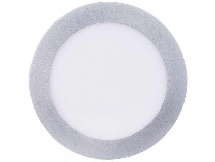 LED panel 170mm, kruhový přisazený stříbrný, 12W Neutrální bílá