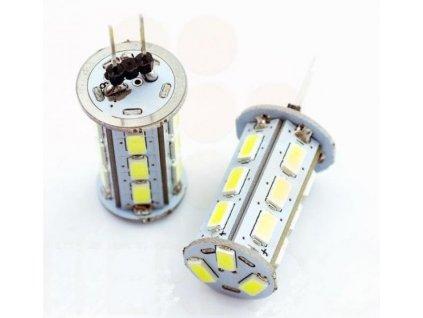 LED žárovka 4W 18x5630 G4 360lm 12V DC Teplá
