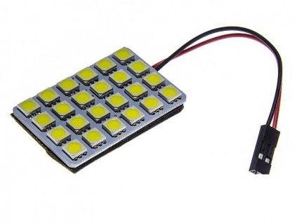 Panel LED 24V 24xSMD 5050 6x4 + adaptéry C5W a T10 Teplá
