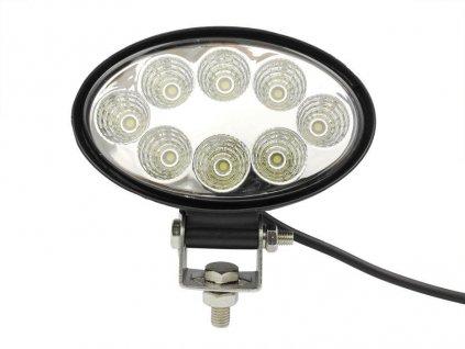 LED svítidlo pracovní elipsovité 24W 8xSMD WL5024 voděodolné, otřesuvzdorné
