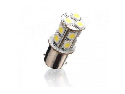 LED auto žárovka 12V BAU1S 13SMD5050 ORANŽOVÁ
