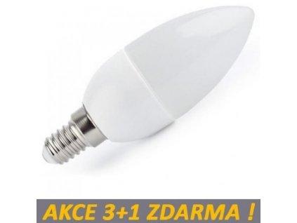 LED žárovka 4W 6xSMD2835 E14 320lm Neutrální