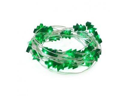 LED21 Řetěz vánoční 30 LED, 3m, 3xAA, stromečky, zelená