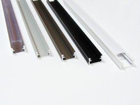 Hliníkový profil LUMINES A 1m pro LED pásky, černý
