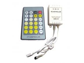 Kontroler s ovladačem pro BI-COLOR LED pásky 72W, 24 tlačítek