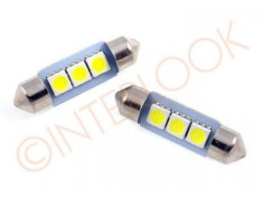 Interlook LED auto žárovka LED C5W 3 SMD 5050 36mm